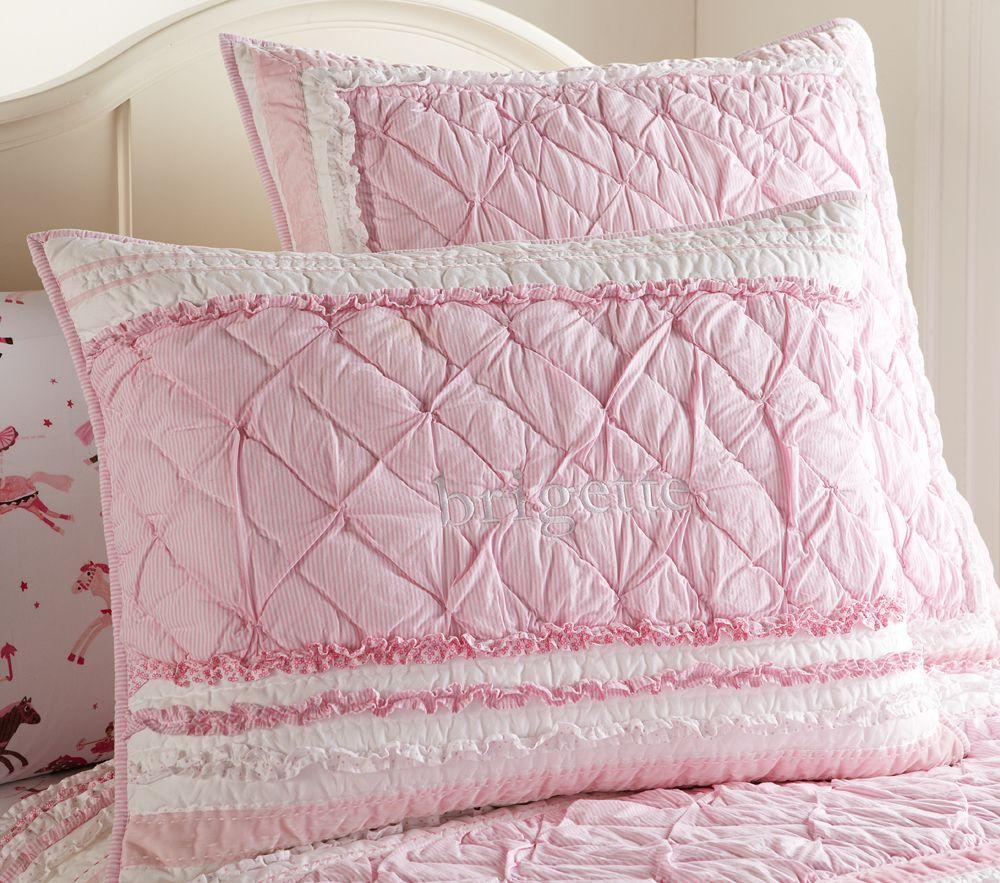 Brigette Ruffle Comforter, Pink