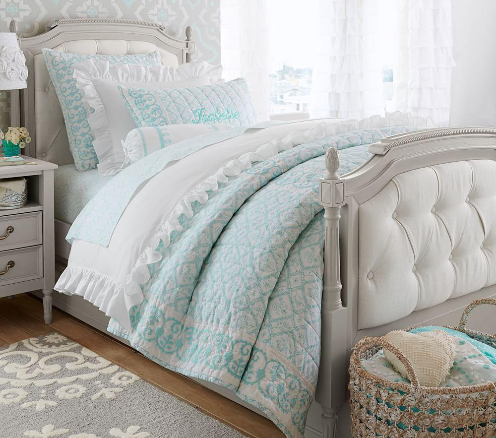 Blythe bunk bed pottery barn : Blythe tufted bed