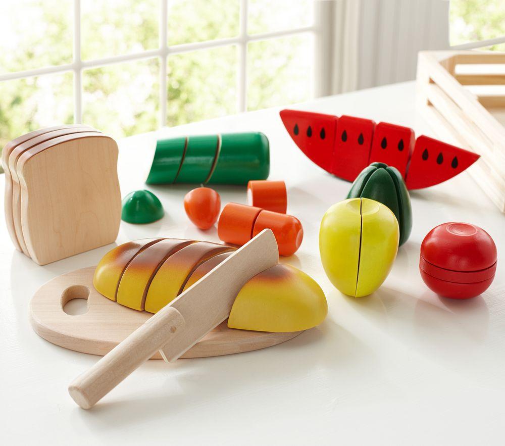 Wooden Food Set