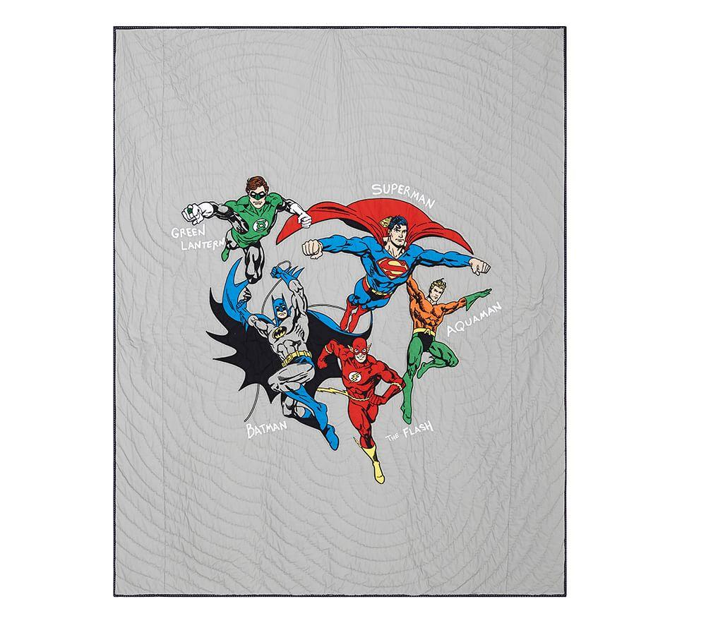 Justice League Quilted Bedding Pottery Barn Kids