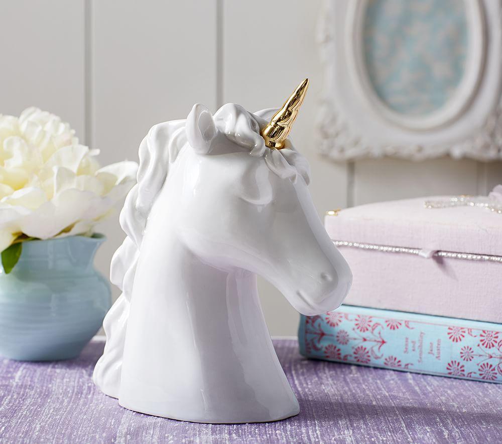 Ceramic Unicorn Piggy Bank Pottery Barn Kids