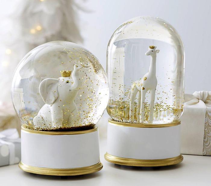 Giraffe Amp Elephant Snowglobes Pottery Barn Kids Au