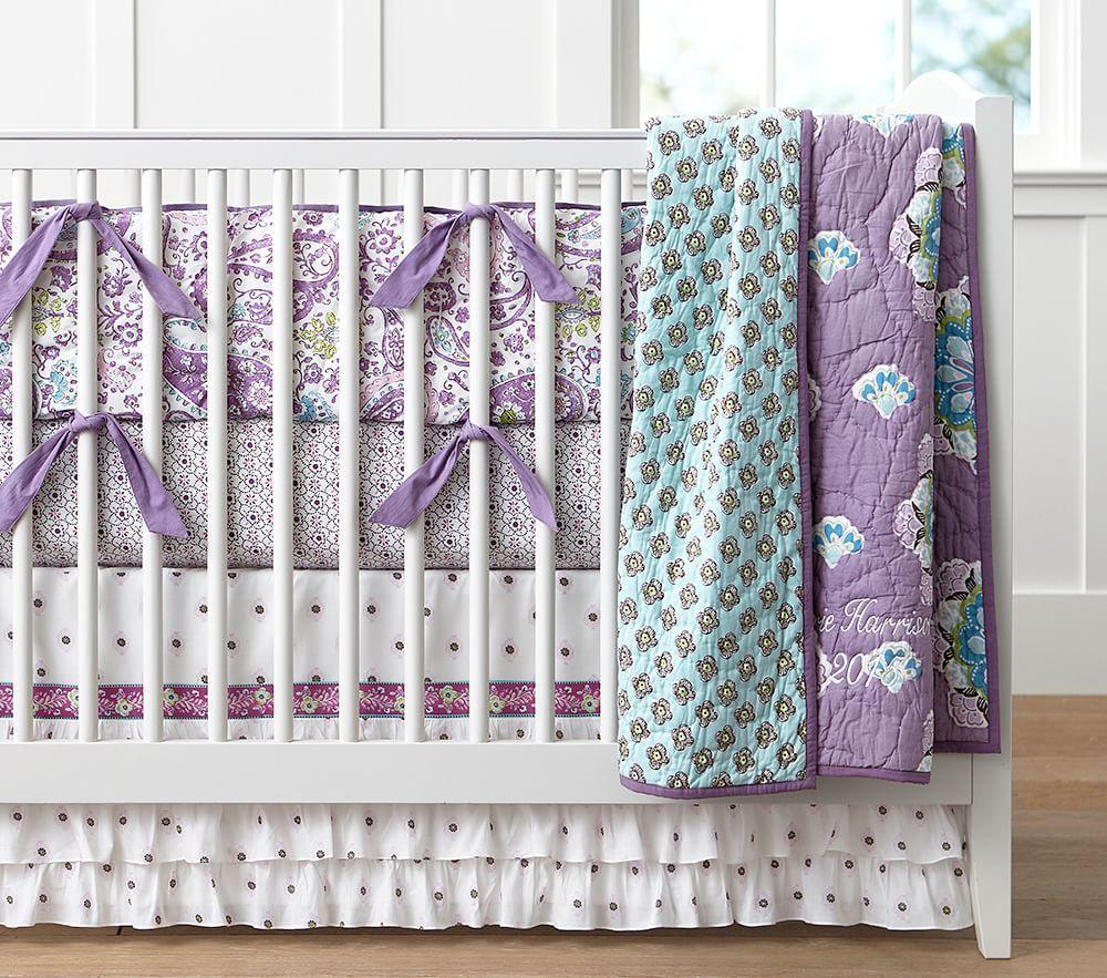 Brooklyn Nursery Bedding Lavender Pottery Barn Kids