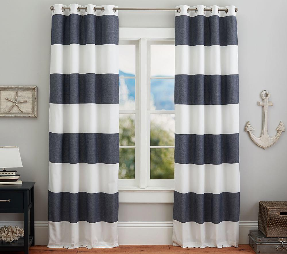 Hayden Rugby Blackout Curtain Pottery Barn Kids