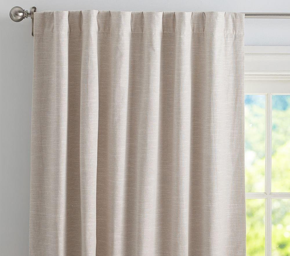 Evelyn Linen Blend Blackout Curtain Pottery Barn Kids