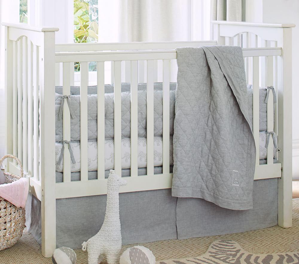 Linen Nursery Bedding Grey Pottery Barn Kids Au