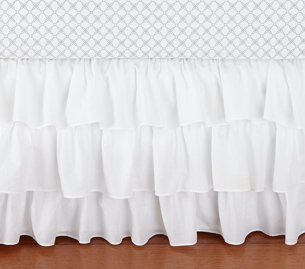 White Ruffle Baby Bedding