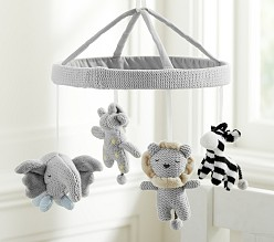 Knit Animal Cot Mobile