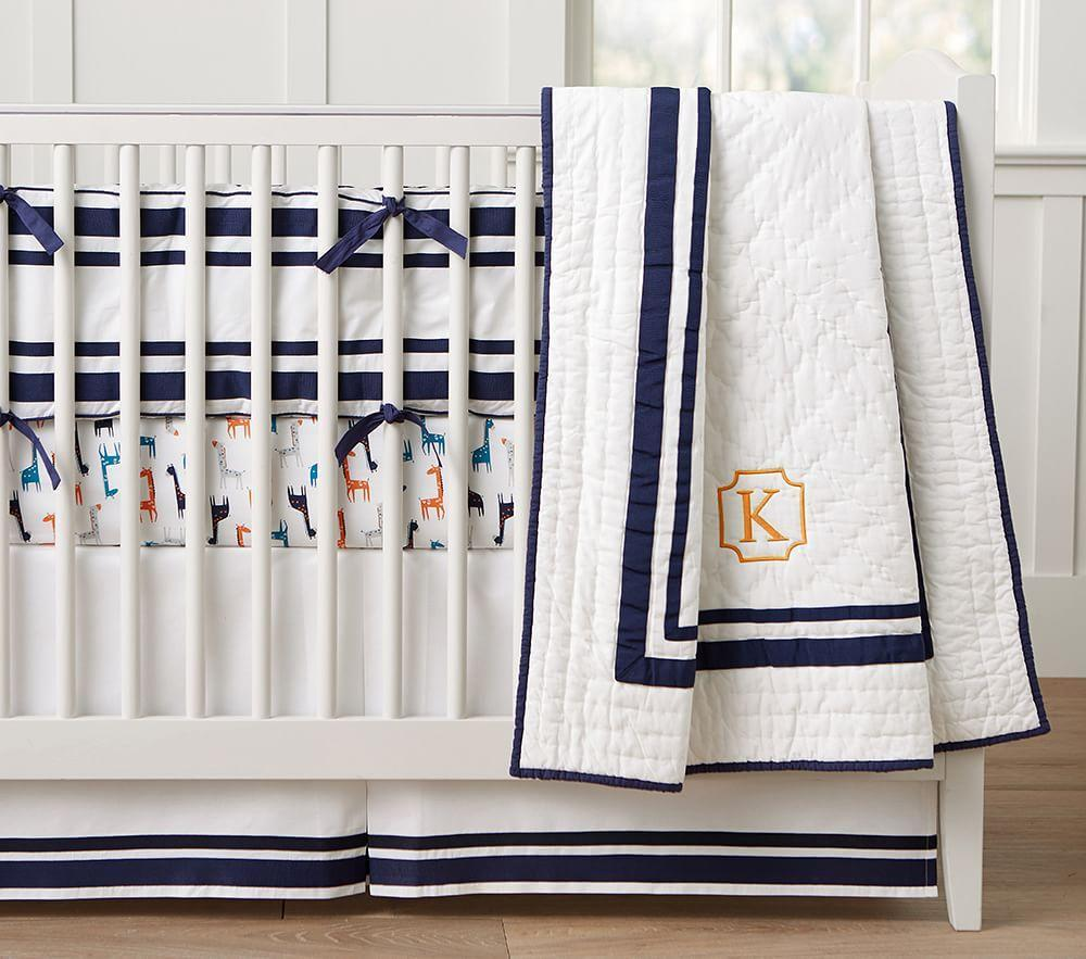 Harper Nursery Bedding Collection Navy Pottery Barn