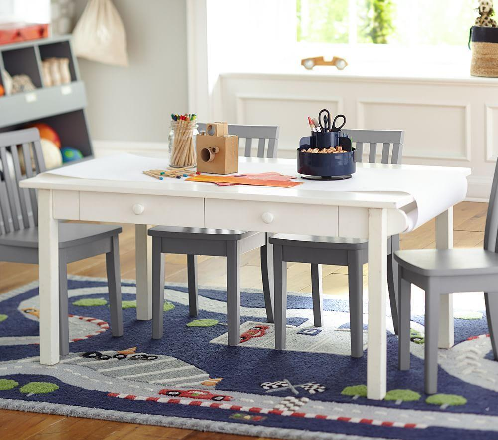 carolina craft play table simply white pottery barn kids. Black Bedroom Furniture Sets. Home Design Ideas