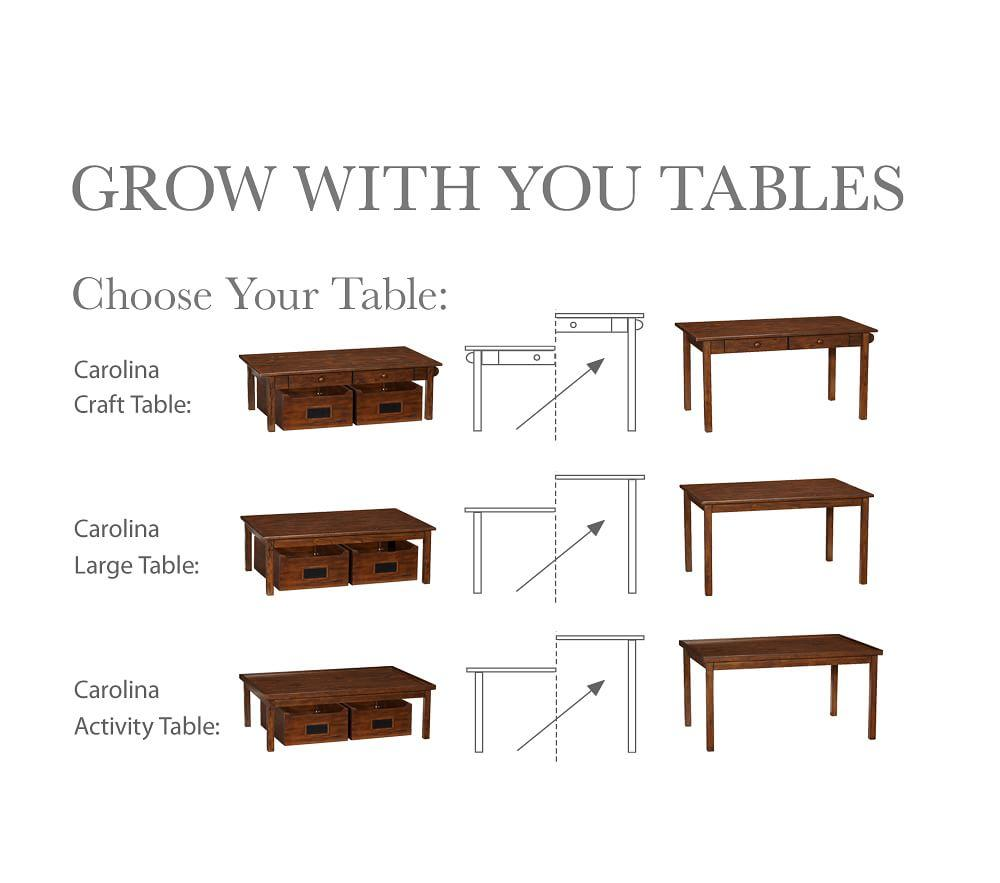 Carolina Grow with You Craft Table, Simply White