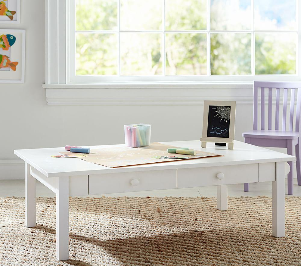 carolina grow with you craft table simply white pottery barn kids. Black Bedroom Furniture Sets. Home Design Ideas