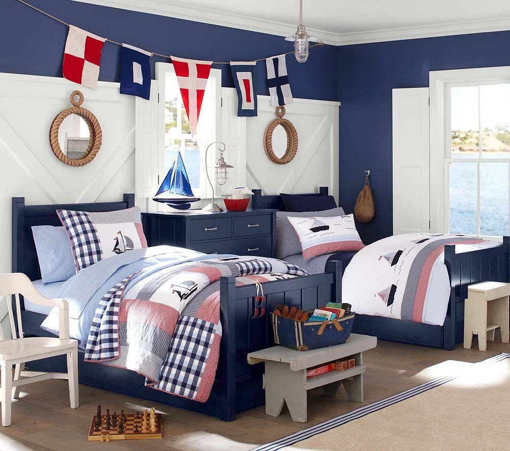Camp Bed Navy Pottery Barn Kids