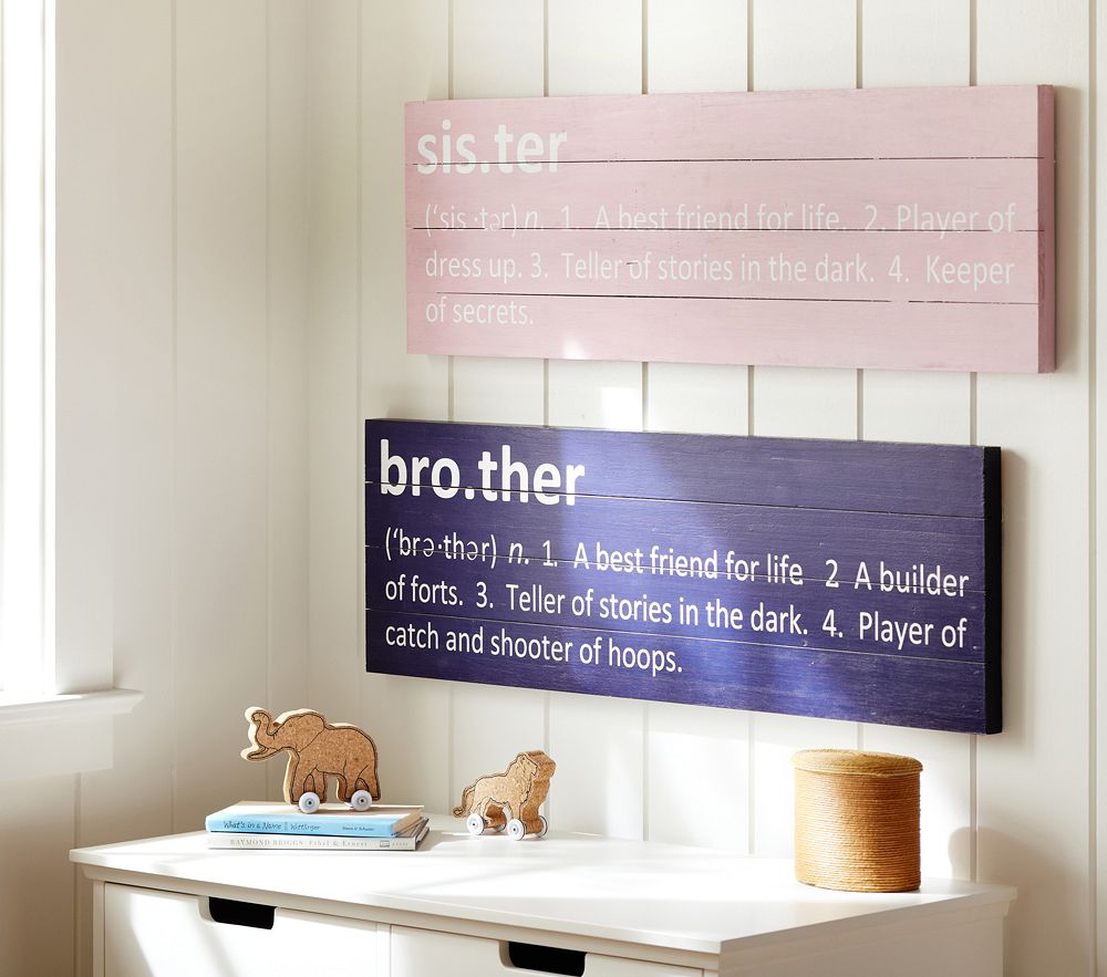 Sibling Plaques