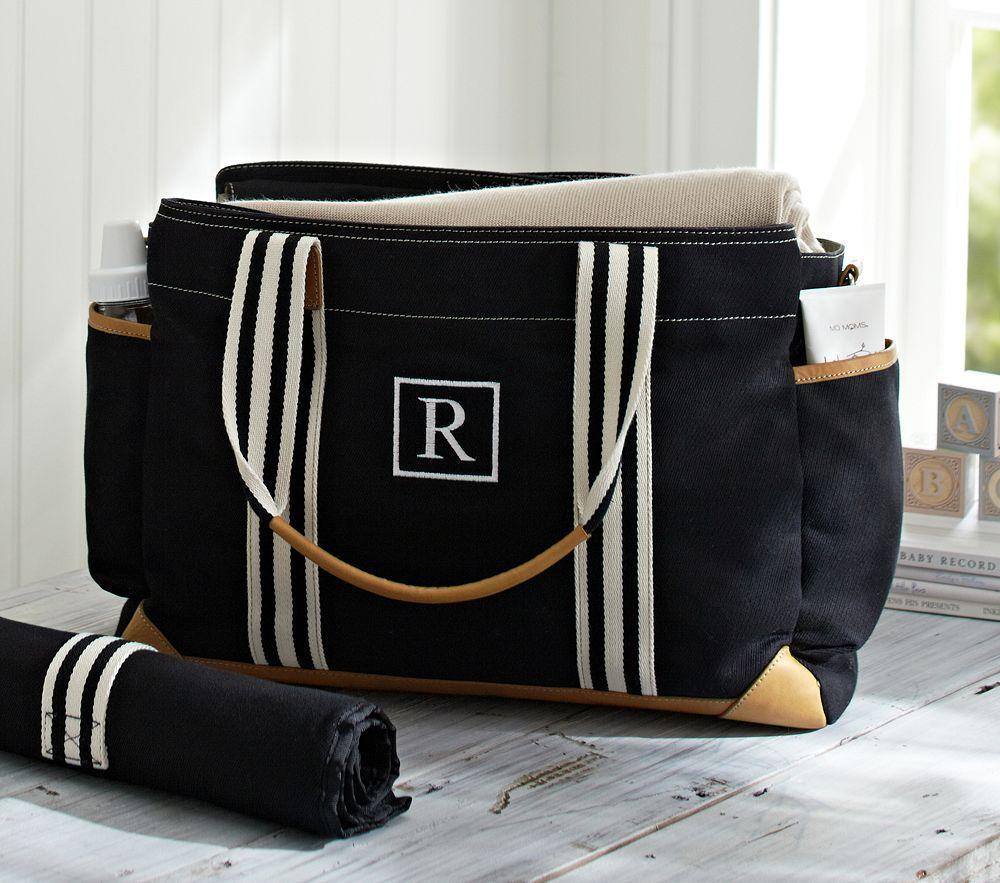 black classic mum nappy bag pottery barn kids. Black Bedroom Furniture Sets. Home Design Ideas