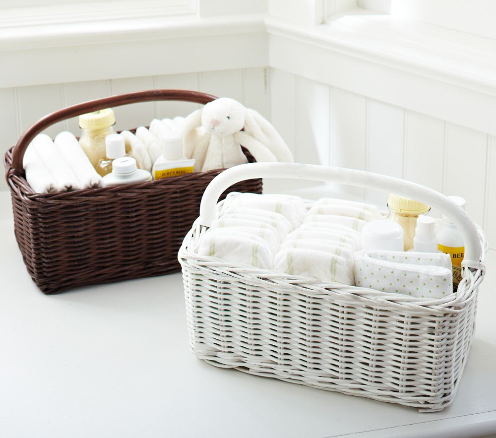 Sabrina Nappy Caddy Simply White Pottery Barn Kids Au