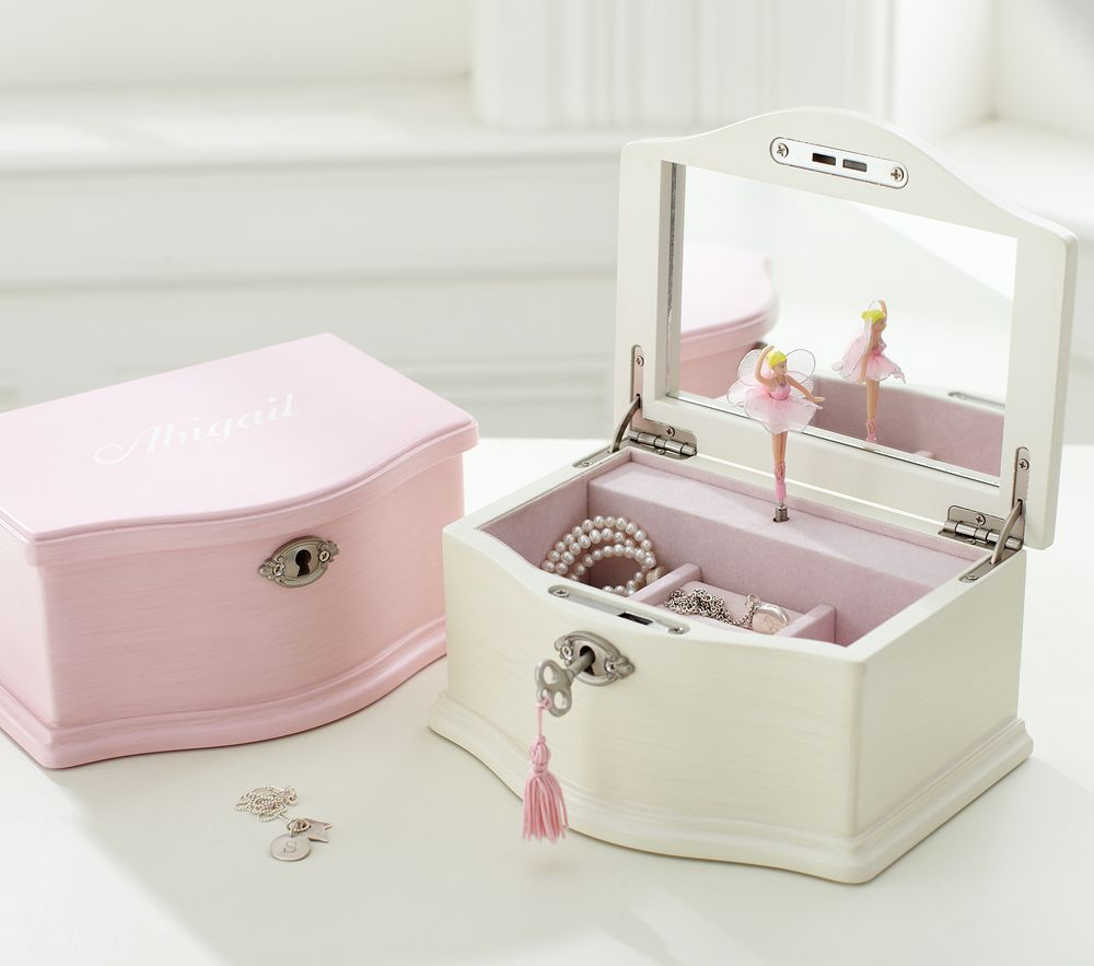 Abigail medium jewellery box for Girls large jewelry box