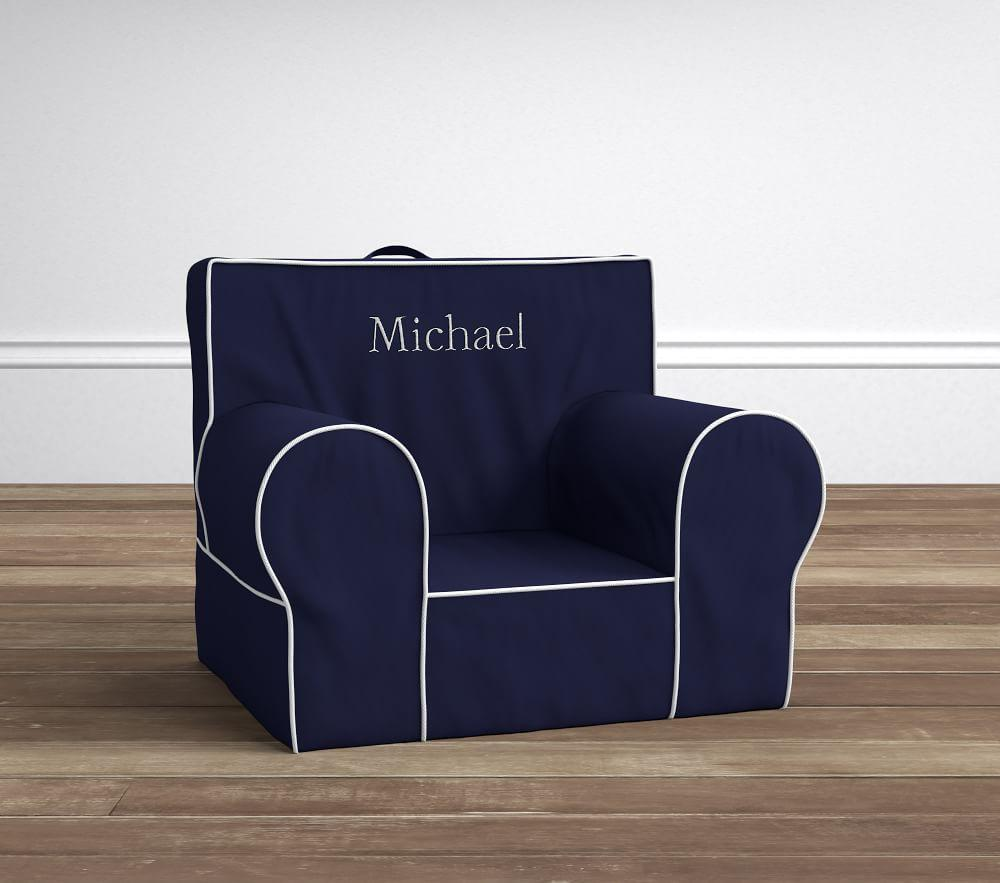 Navy With White Piping Anywhere Chair 174 Pottery Barn Kids