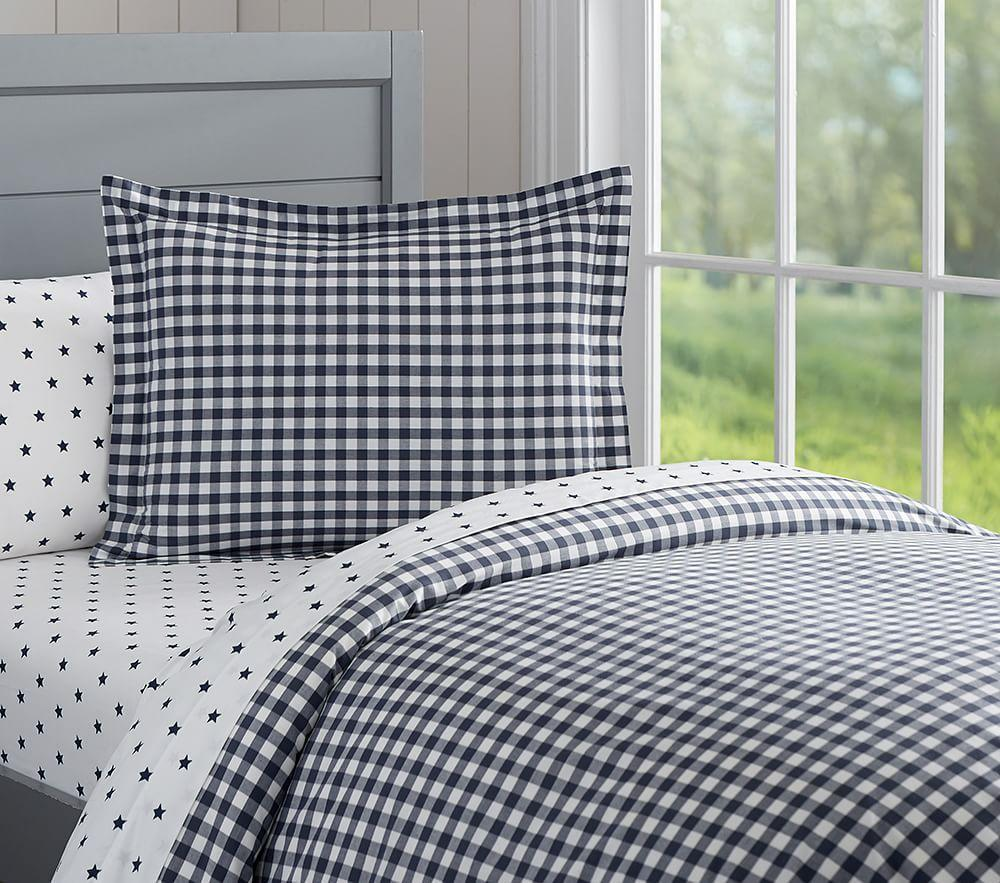 Organic Check Quilt Cover | Pottery Barn Kids : organic quilt cover - Adamdwight.com