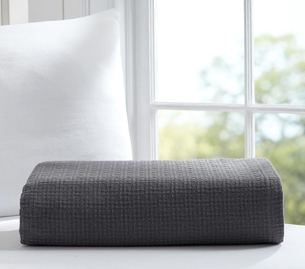 Organic Cotton Woven Bed Blanket Pottery Barn Kids Au