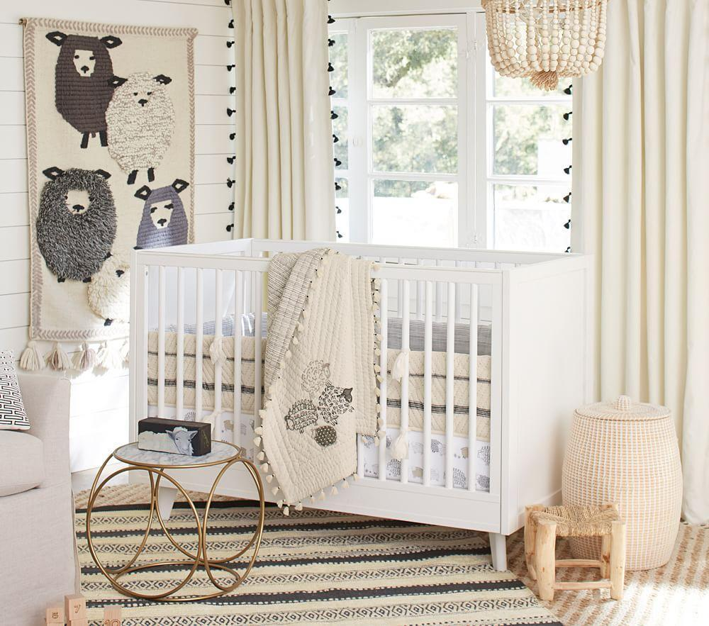 Organic Sleepy Sheep Nursery Bedding Pottery Barn Kids
