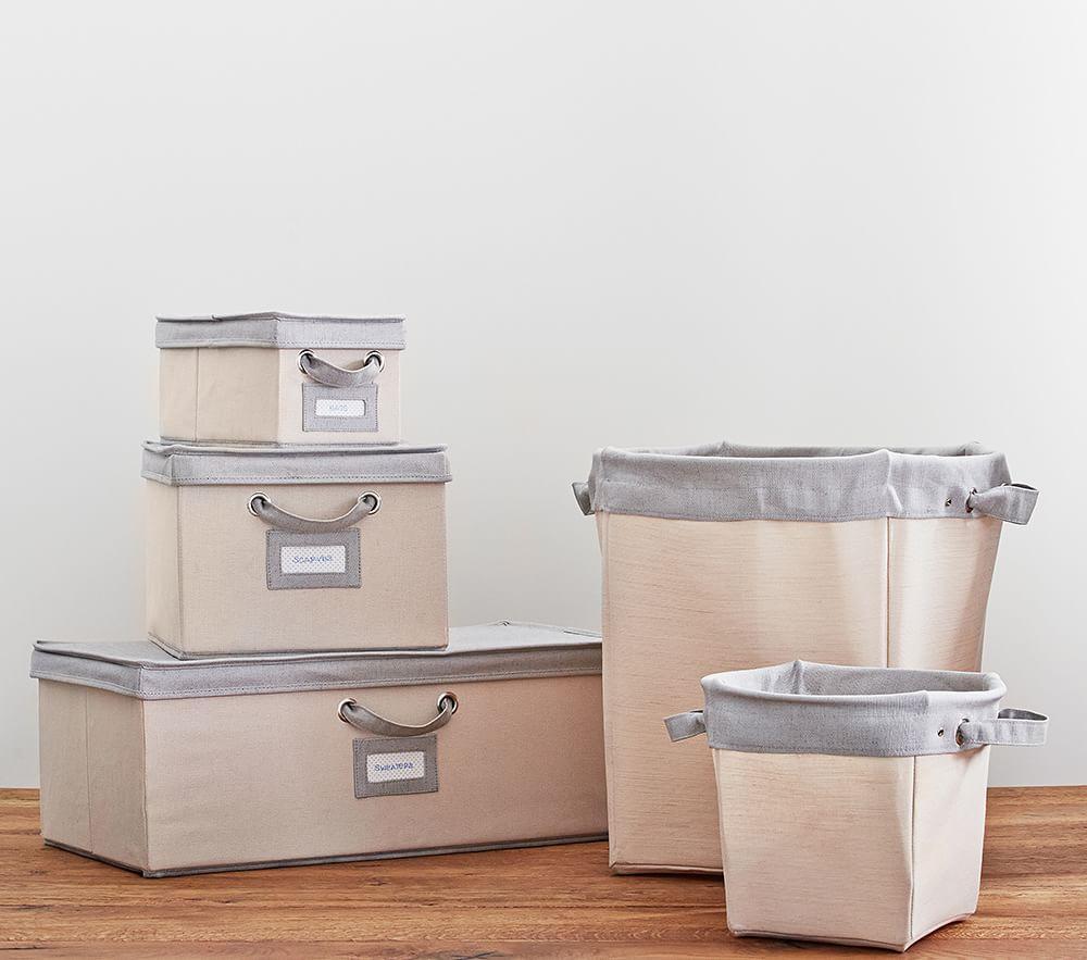 Grey Contrast Border Canvas Storage
