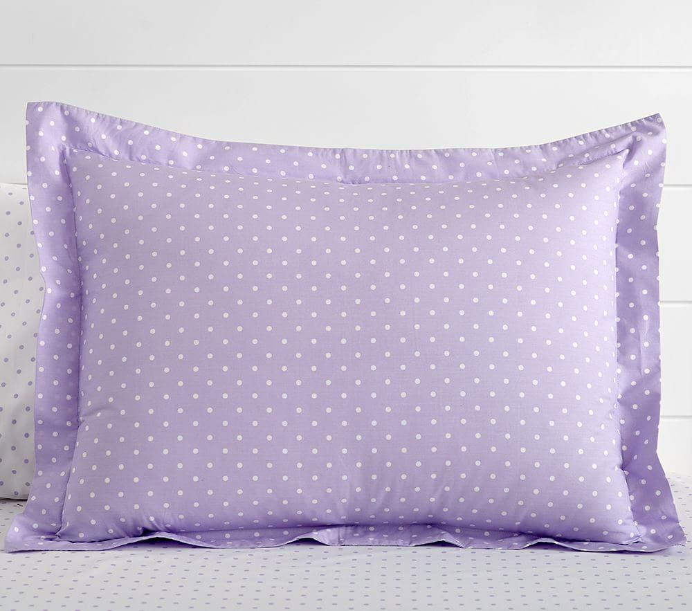 Organic Pin Dot Quilt Cover Lavender Pottery Barn Kids Au