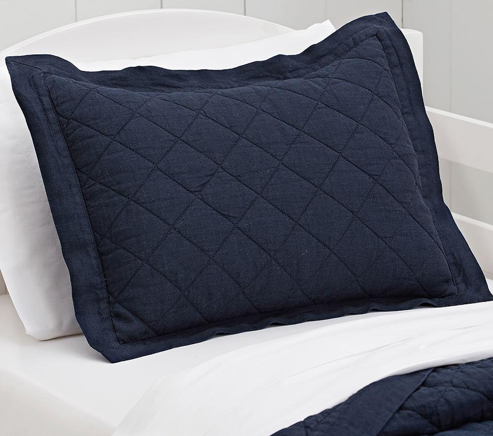 Belgian Flax Linen Cushion Cover - Navy