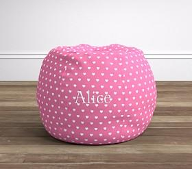 Bright Pink Heart Anywhere Beanbag