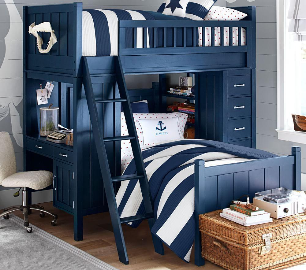 Camp bunk system pottery barn kids for Second hand bunk beds