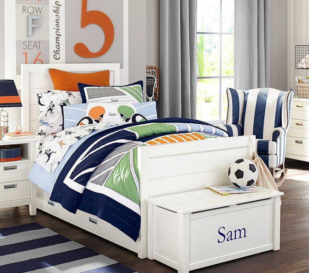 Rugby Rug Navy Amp Grey Pottery Barn Kids