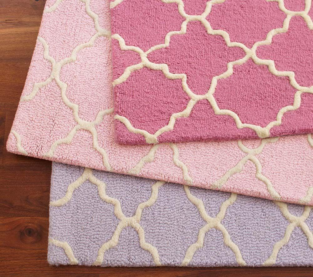 Addison rug light pink pottery barn kids for Pottery barn carpet runners