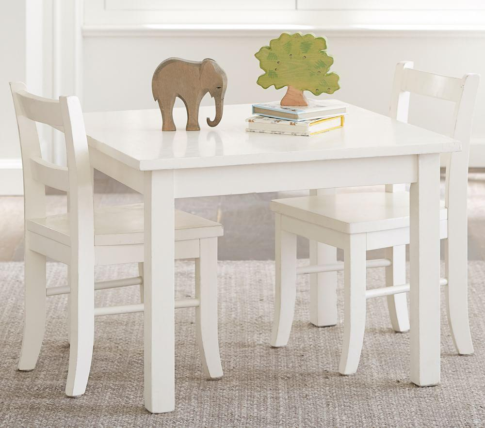 Pottery Barn Kitchen Curtains My First Play Table Chairs Simply White Pottery Barn Kids