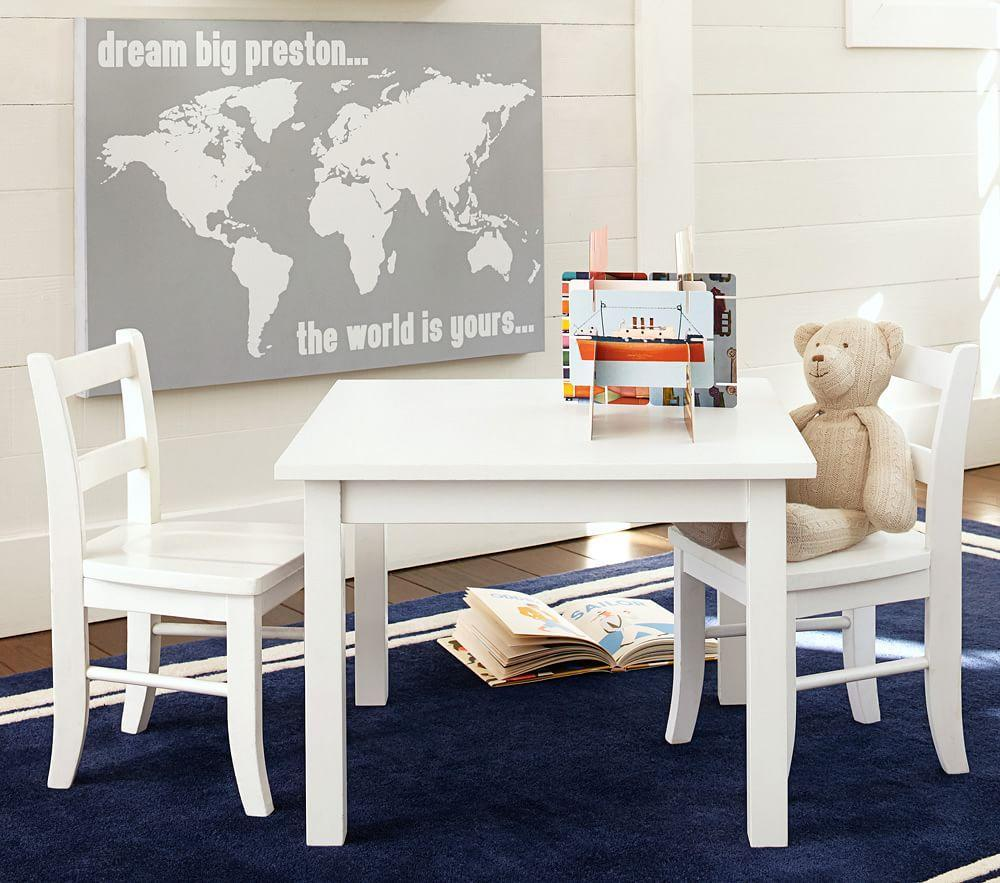 My First Play Table & Chairs, Simply White