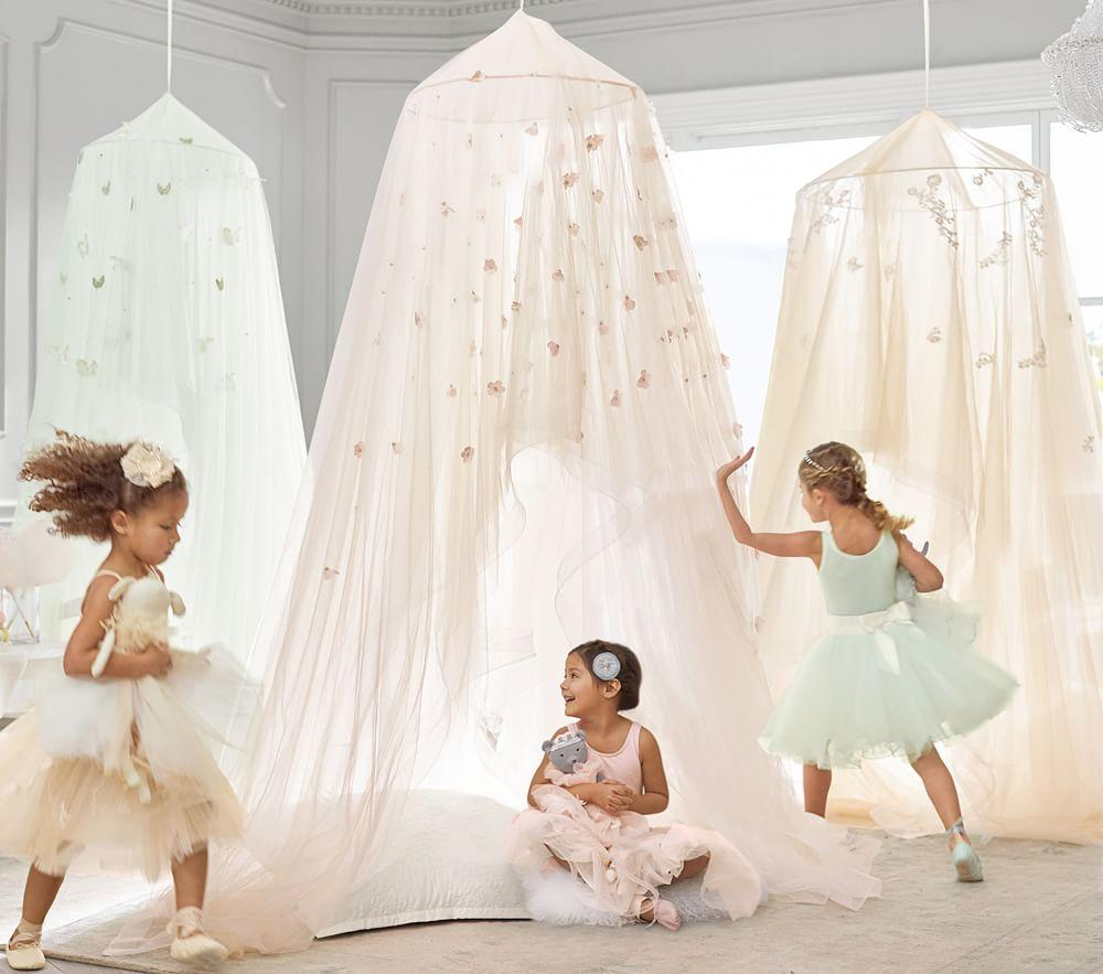Monique Lhuillier Blush Petal Canopy Pottery Barn Kids Au