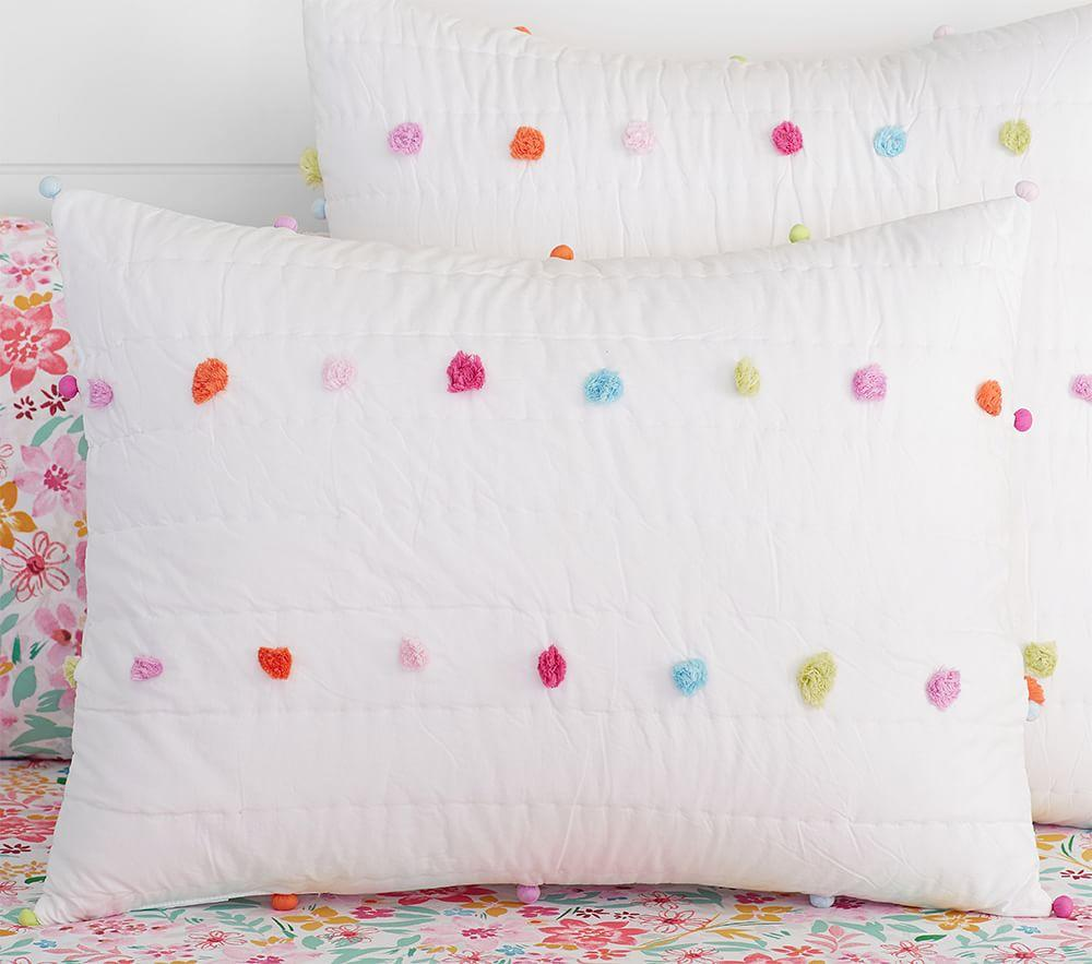 Bright Pom Pom Quilted Bedding Pottery Barn Kids