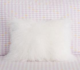 Mongolian Fur Decorative Cushion Cover