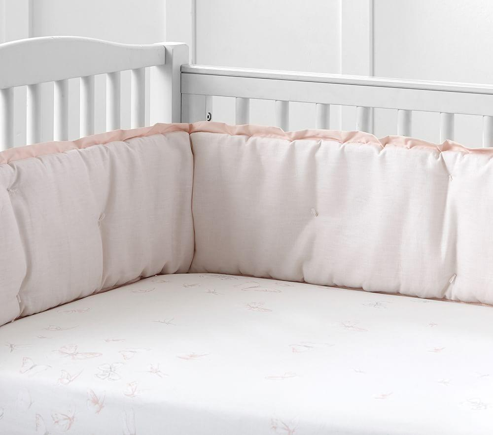 Monique Lhuillier Ethereal Butterfly Sateen Cot Fitted Sheet