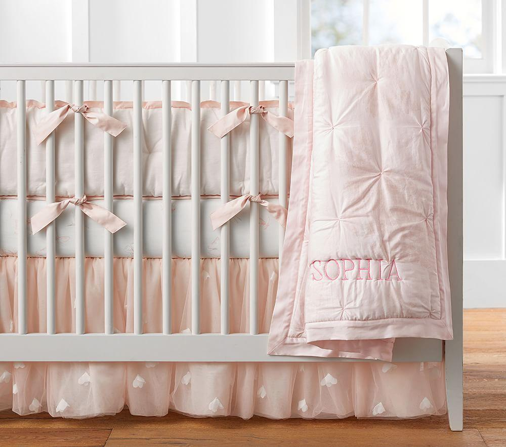 Monique Lhuillier Sateen Ethereal Butterfly Nursery Bedding