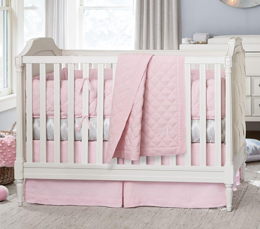 Blythe Convertible Cot Designer Nursery Cot Tufted Cot