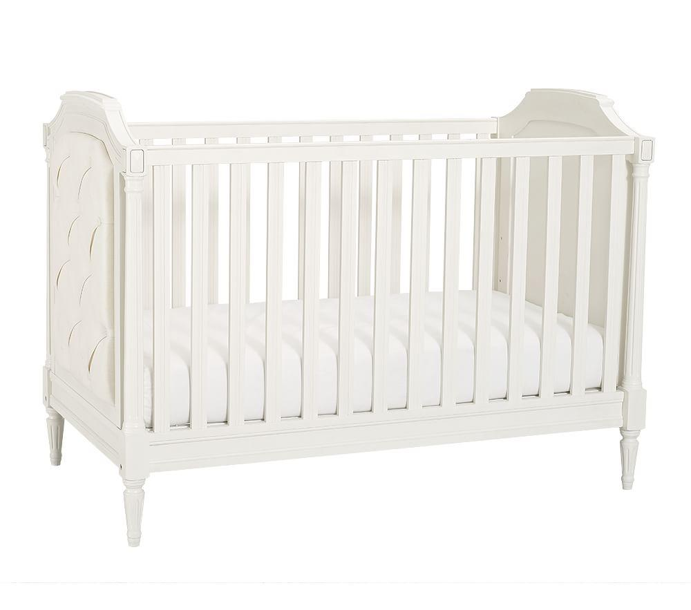 Blythe Convertible Cot Designer Nursery Cot Tufted Cot