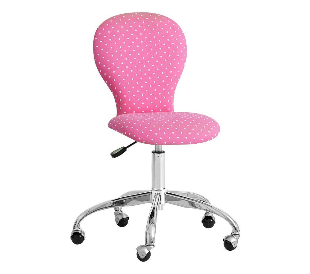 Round Upholstered Task Chair Pottery Barn Kids