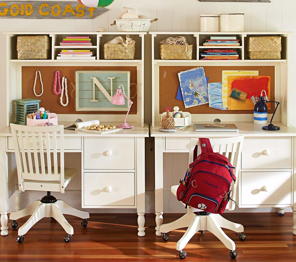 Catalina storage desk large hutch study desk homework desk pottery barn kids - Pottery barn schoolhouse chairs ...