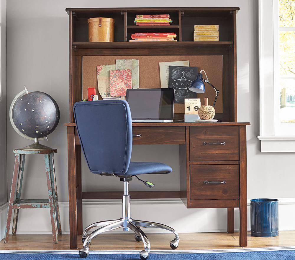 Kendall Desk & Large Hutch - Navy