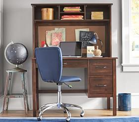 Kendall Desk & Large Hutch - Navy
