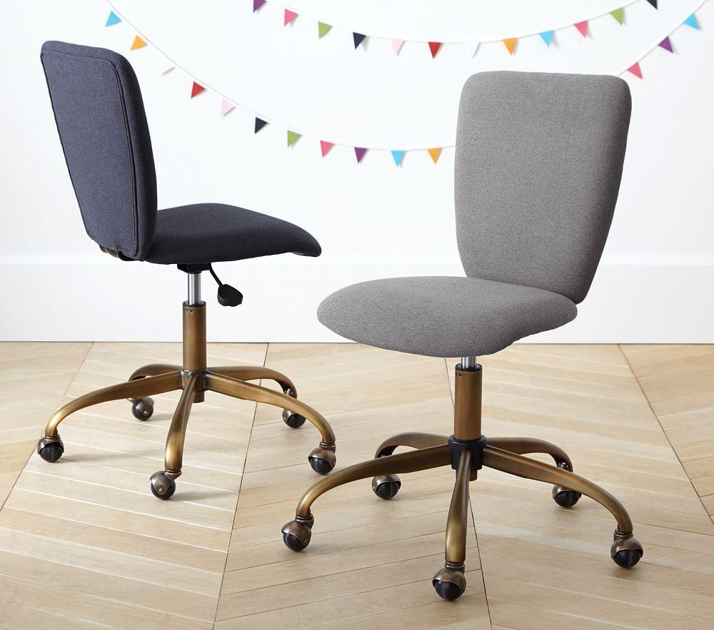 Upholstered Square Task Chair Brass Base Pottery Barn Kids