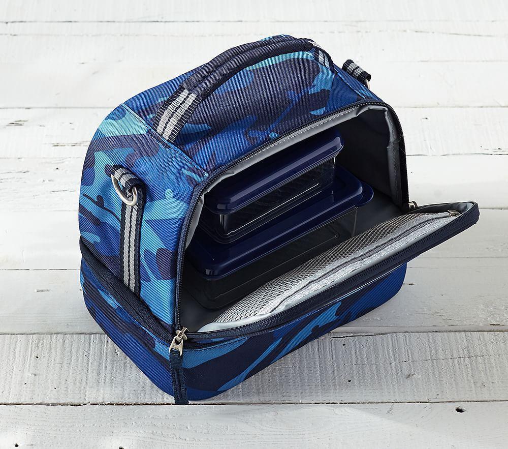 Mackenzie Blue Multicolor Dino Lunch Bag Pottery Barn Kids