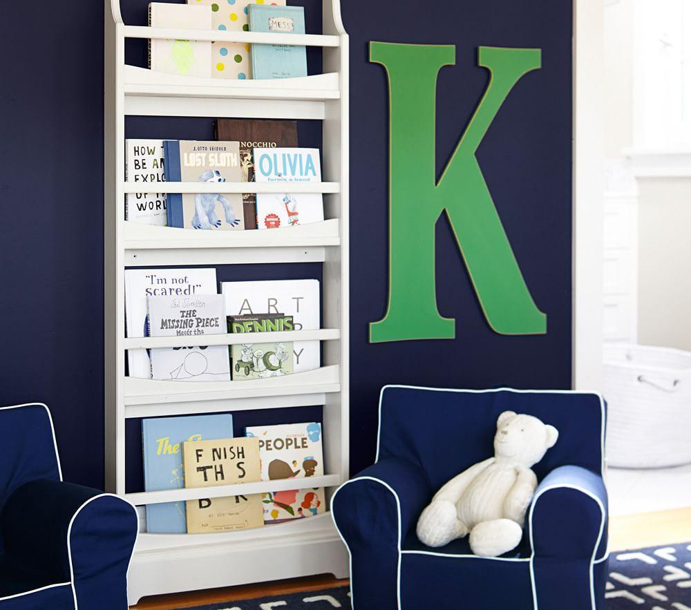 New Bookcase Toy Box White Finish Bedroom Playroom Child: Madison 4-Shelf Bookrack