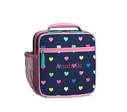 Mackenzie Navy Multicolour Heart Classic Lunch Bag