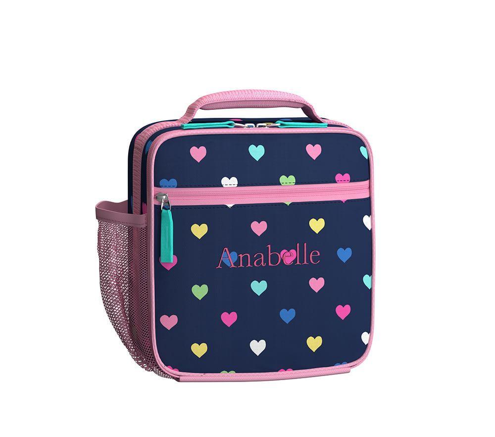 Mackenzie Navy Multicolour Heart Classic Lunch Bag
